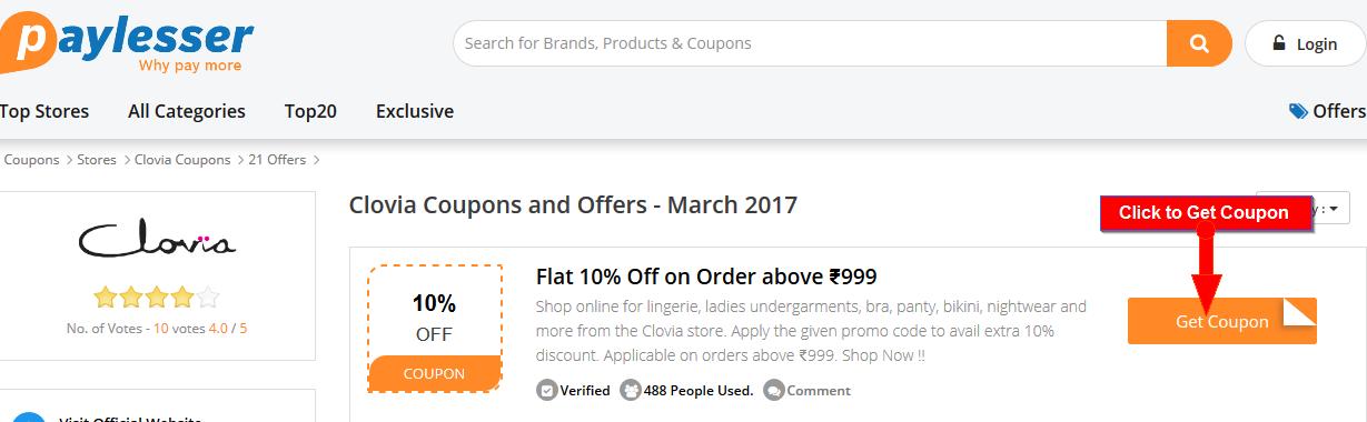 Clovia Offers