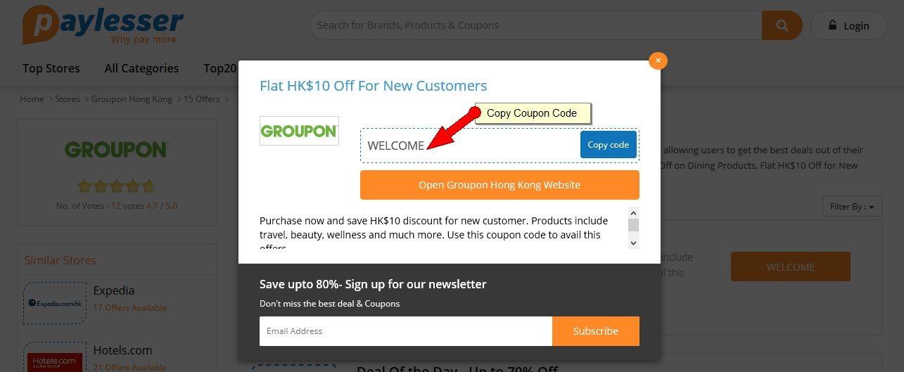 Groupon Coupon HK