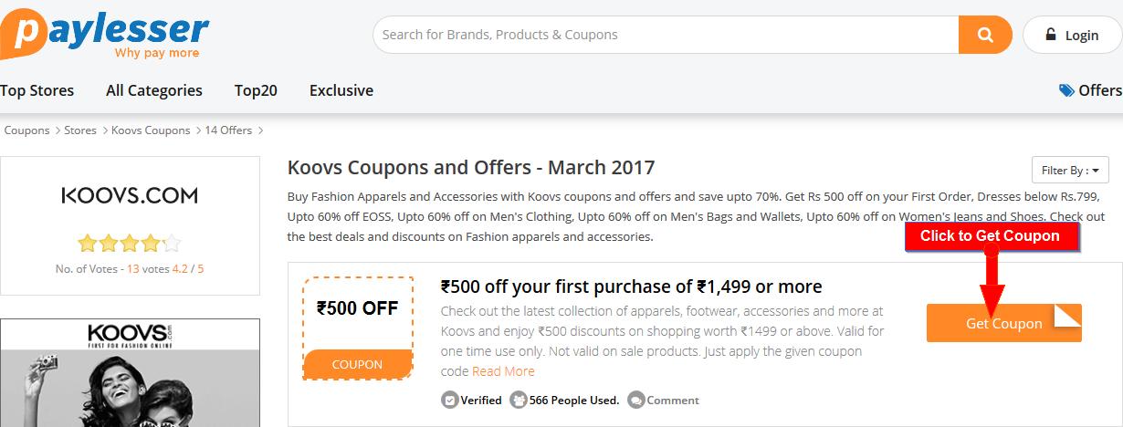 Koovs Offers