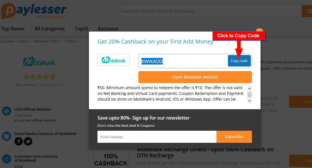 Mobikwik Cashback Offers